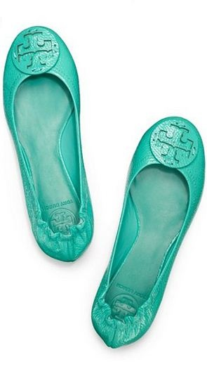 Mint flats Tory Burch