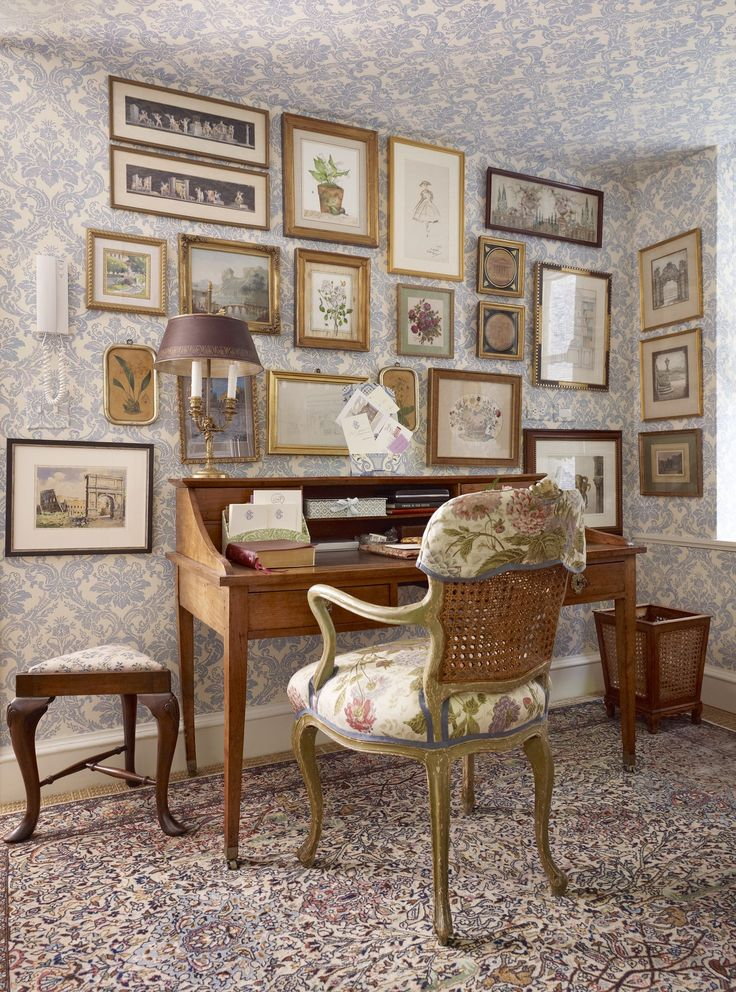 A quiet study in New York City Home Office TraditionalNeoclassical by Charlotte Moss