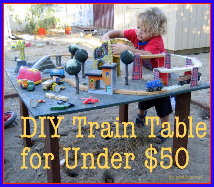 TRAINS!!! Things That Go Series: How to make a train table.