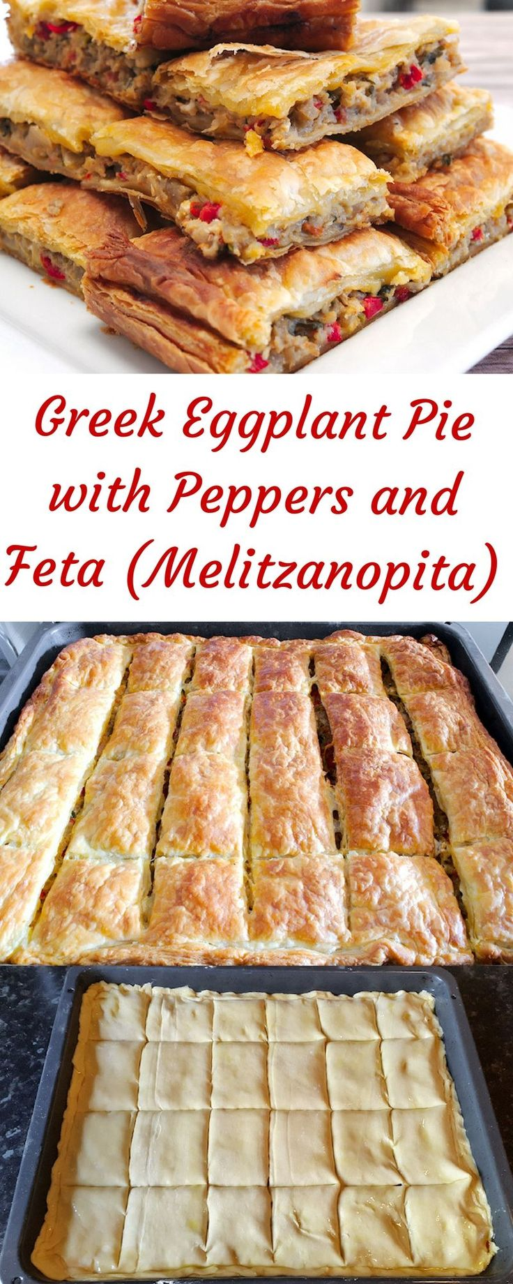 The 25 best greek eggplant recipe ideas on pinterest greek eggplant pie with peppers and feta melitzanopita forumfinder Choice Image