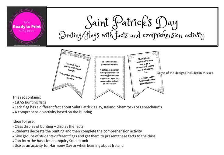 Saint Patricks Day comprehension activity