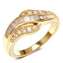Prinses cut cz ring hoge kwaliteit Mode Unieke Ontwerp Nieuwe collectie 2017 fashion ring elegant voor Sieraden vrouwen ringen(China (Mainland))
