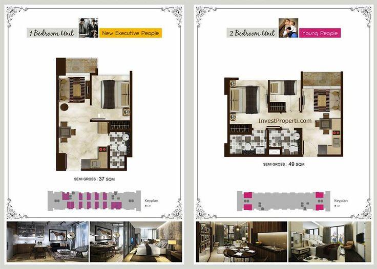 Puri Mansion Apartment. Tipe unit yang dijual.