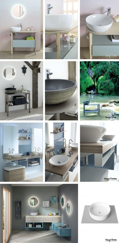 Choisissez une vasque à poser ronde pour votre meuble de salle de bain. Pratique et design, elle se décline dans différentes matières (céramique, pierre) et dans différentes formes (arrondie, profonde, ovale, ...). Simple à installer, elle peut se placer au centre de votre table, sur un côté pour laisser de la place à vos accessoires de beauté ou en double vasque pour gagner du temps le matin. - Vasques à poser de Sanijura