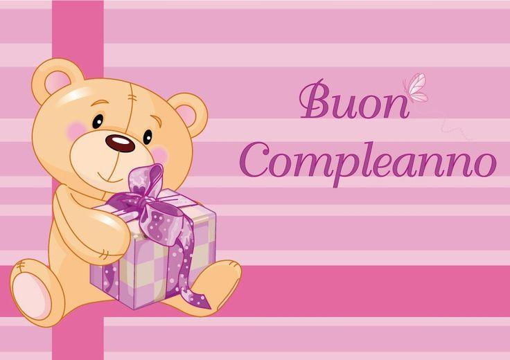 Buon compleanno# rosa# Happy birthday# present# dediche# regalo# orsetto# bear#