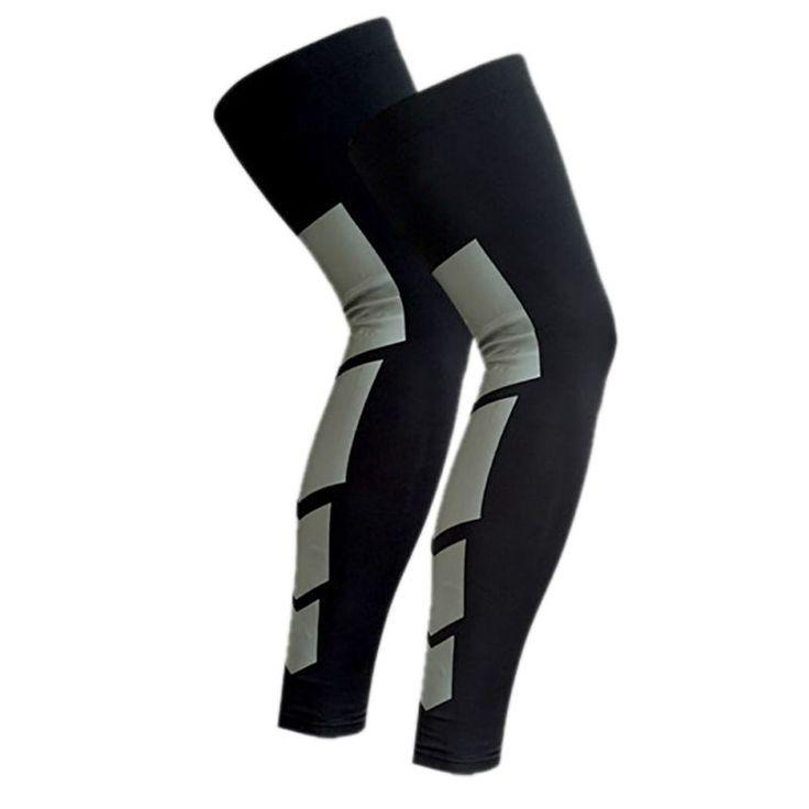Hewolf 1 pc Not 1 pair Outdoor Sports Cycling Leg Long Length Protector Gear Crash Proof Anti-Slip