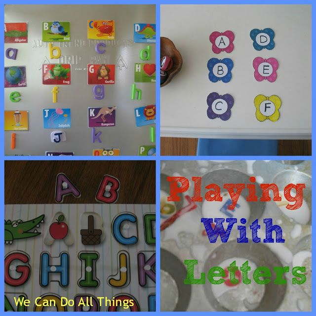 we can do all things: Teaching The Alphabet.