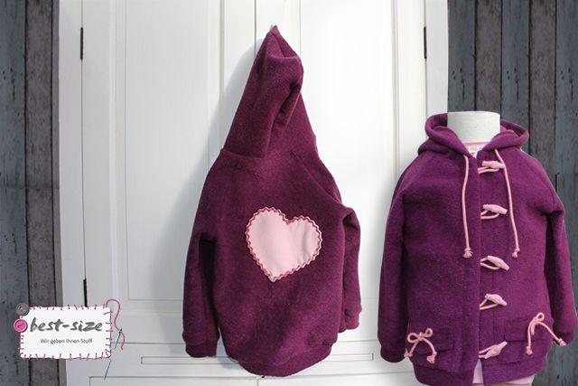 Niedliche Jacke für Kinder aus Frottee <3 Material: Baumwollgermisch