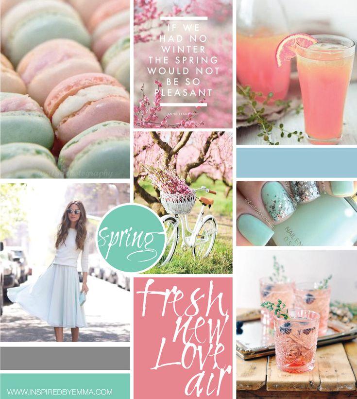 An inspirational #moodboard for @inspiredbyemma by @freshsageSA for Spring 2015