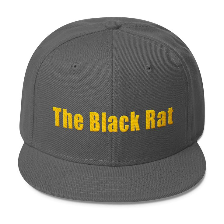 The Black Rat - Wool Blend Snapback