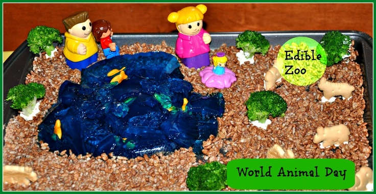 Edible Zoo for toddlers and preschoolers