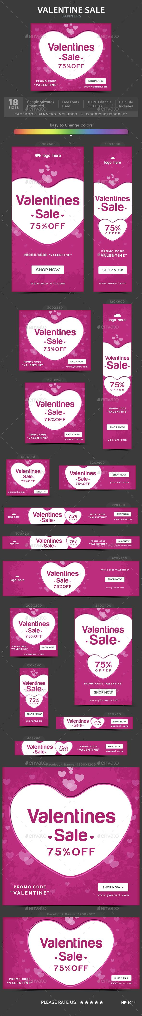 Valentine's Sale Banners