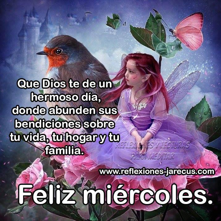 Feliz miércoles, que Dios te de un hermoso día