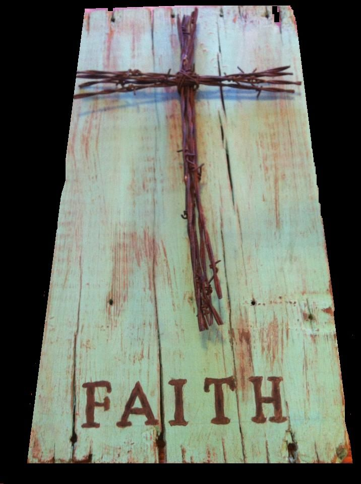 barn wood and I already have a cross like this made out of spikes