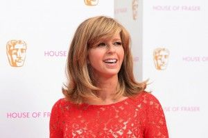 Anyone at any age can carry off a heavy blunt fringe as Kate Garraway demonstrates. Keeping the ends of her hair natural rather than straight helps to soften the look too. - Woman Magazine