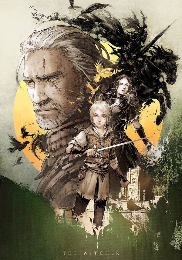 Cover I did for Blood of Elves.The Witcher Novel(Chinese edition). 《猎魔人》中文版系列小说第三部《&#...
