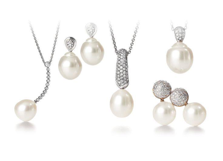 Australian South Sea pearl pendants and earrings by Giulians in Sydney