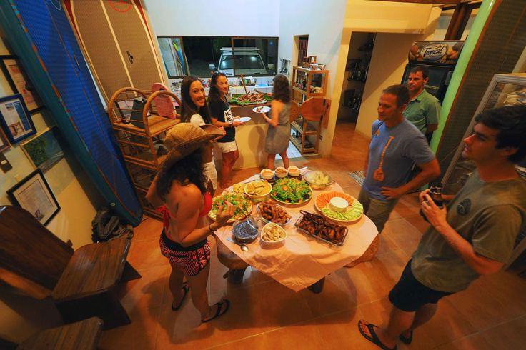 How about a good BBQ with the best company at Vista Guapa Surf Camp Costa Rica