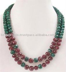Handcrafted Emerald and Ruby Necklace, View natural gemstone necklace, Bello Jewels Product Details from BELLO JEWELS PRIVATE LIMITED on Alibaba.com