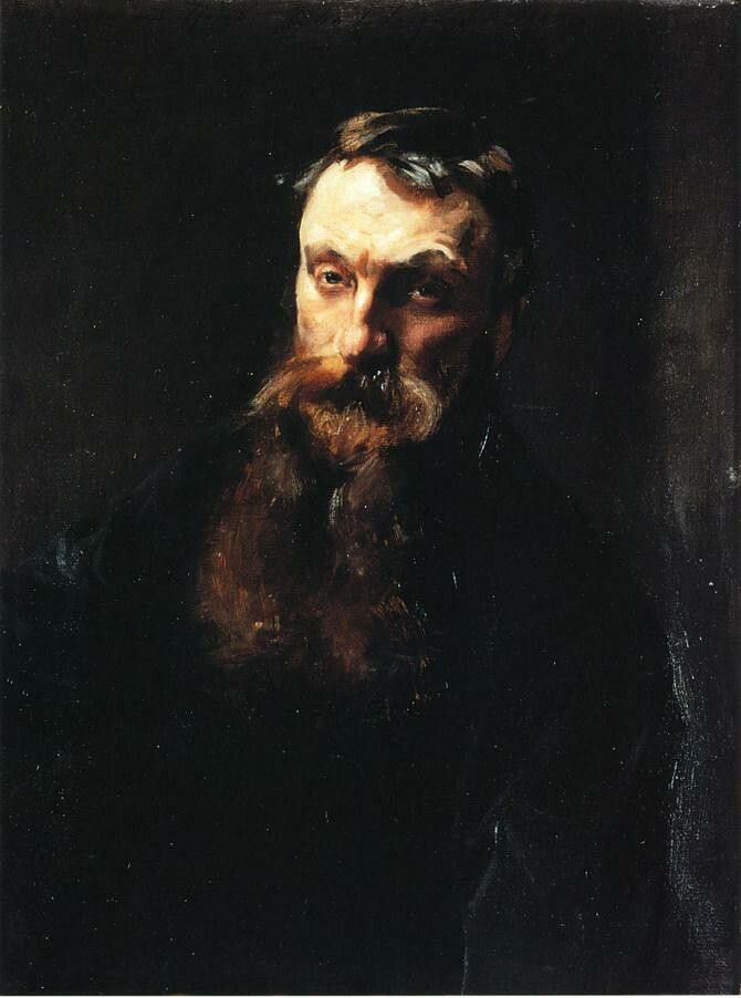 """Auguste Rodin"" by John Singer Sargent, 1884"