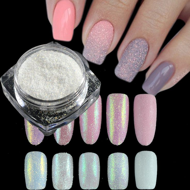 1g Dazzling Sugar Holographic Glitter Pigment Nail Art Glitter Dust Mermaid Glimmer Powder Nail Decorations Manicure TRTY01-05  Price: 0.58 USD