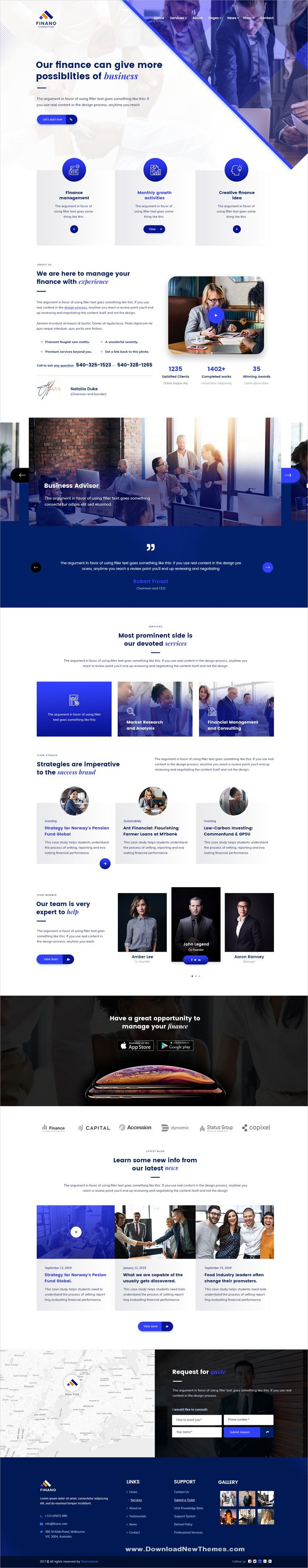 Finano – Business & Consulting PSD