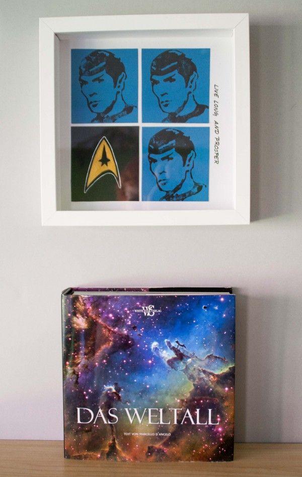 Ein letzter Gruß mit Linolschnitt für Mr. Spock