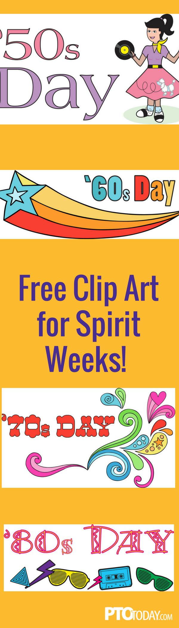 Unique ideas for spirit week - Use Our Free Clip Art To Promote Spirit Week At Your School