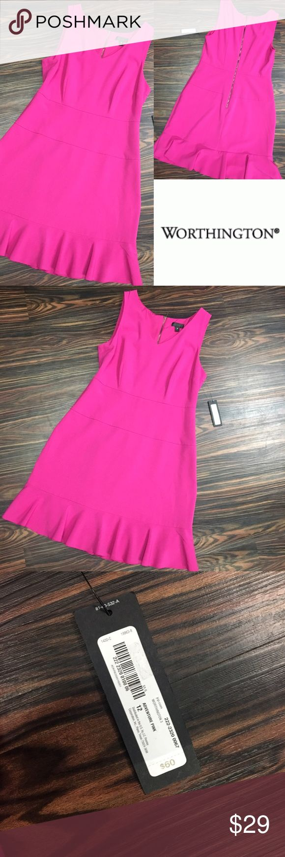NWT Hot pink fit and flare dress Perfect dress for any occasion, dress it up with a statement necklace and heels, to work with a blazer and pumps, or dress it down with a Jean jacket and sandals.  Hot pink perfection, size 12. Dresses
