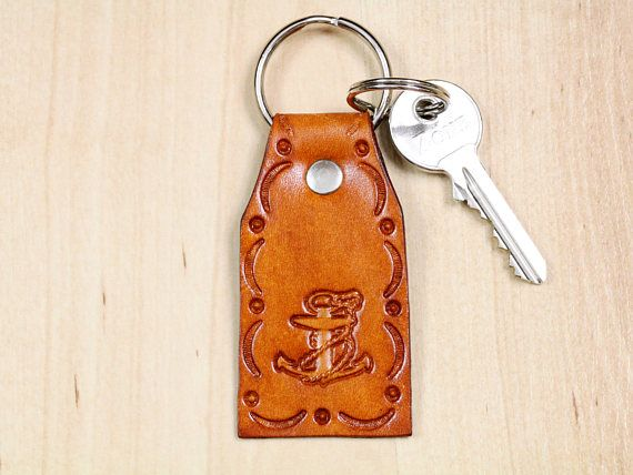 Anchor Keyring, Leather Keyring, Nautical Gift For Dad. Repin To Remember!