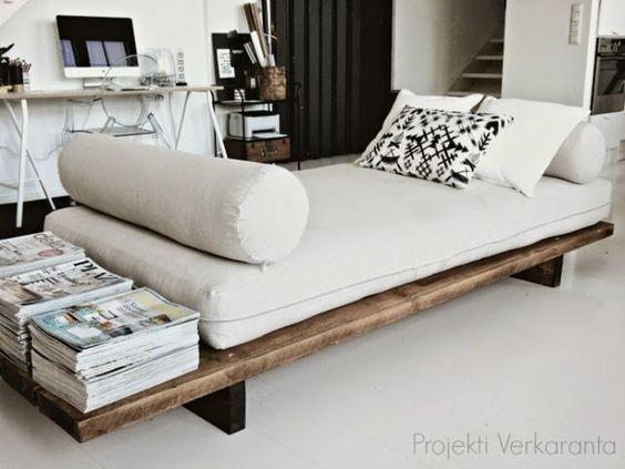 Rustic Day Bed Frame by ModernElementsHome on Etsy