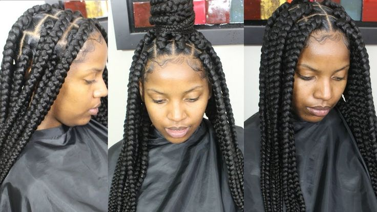 Jumbo Box Braids Tutorial [Video] - https://blackhairinformation.com/video-gallery/jumbo-box-braids-tutorial-video/