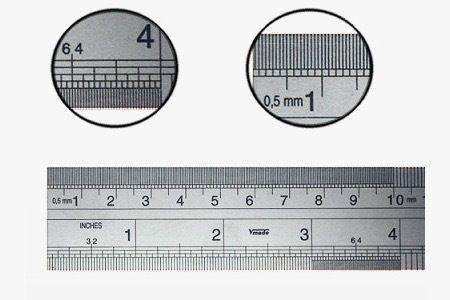 Rvs verenstalen liniaal 1000 mm metrisch/inch