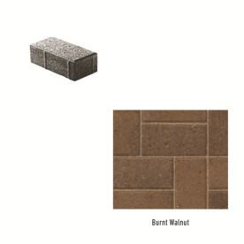 Oldcastle Holland Stone Burnt Walnut Interlocking Sections Paver (Common: 4-In X 8-In; Actual: 4-In X 8-In) 10155596