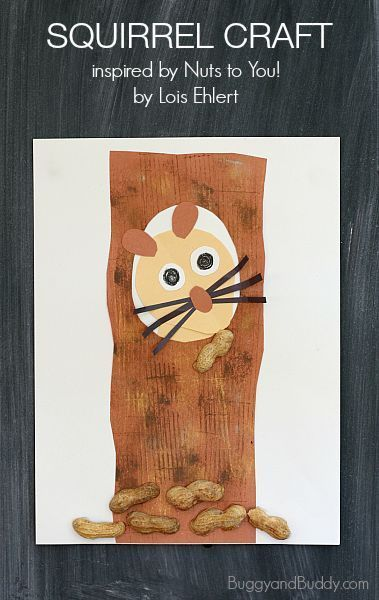 Fun Fall Craft! Squirrel Craft for Kids Based on the Story, Nuts to You! by Lois Ehlert~BuggyandBuddy.com