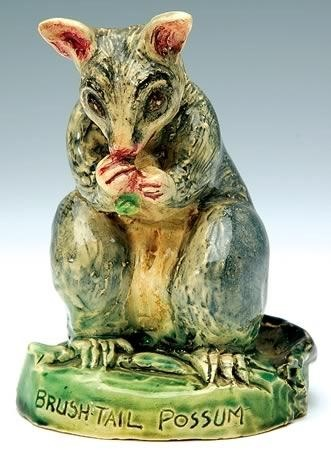 Marguerite Mahood, brush tail possum incised to base T1662.… - Mahood, Marguerite - Ceramics - Carter's Price Guides to Antiques and Collectables