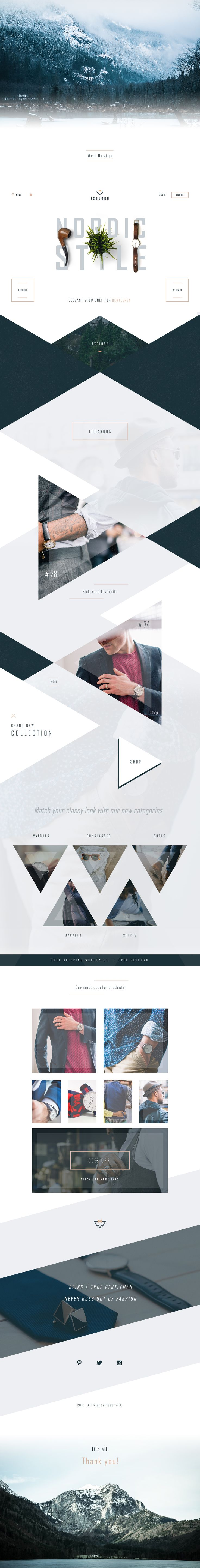 Isbjørn - Gentleman's Store Ui design concept and styling on Behance