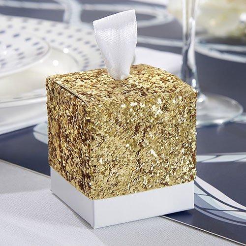 Glitter Favor Boxes Fall WeddingWedding