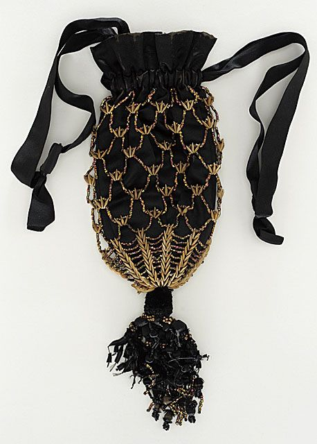 Reticule 1860, American, Made of silk satin
