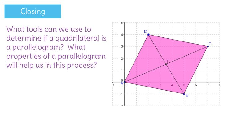 Use coordinate geometry to proof that a quadrilateral is a parallelogram