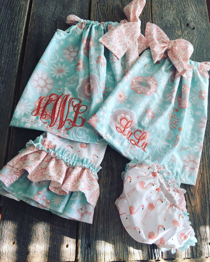 Flash Sale Girls Monogrammed Outfit - Girls Ruffle Outfit - Sister Set 0/3m-7/8 by ShopKinsleesCloset on Etsy https://www.etsy.com/listing/267359216/flash-sale-girls-monogrammed-outfit