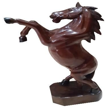 TilaVie Horse Statue Kayu Jati