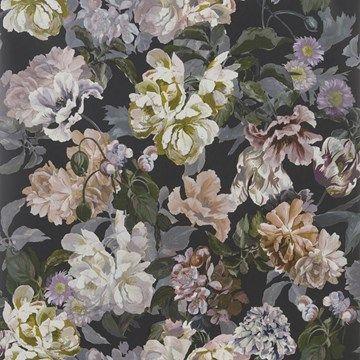 Engelska Tapetmagasinet - tapeter -Designers Guild - Delft flower Charcoal