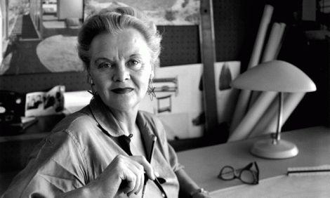 Greta Grossman in her studio