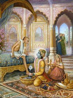 Divine Friendship : Lord Krishna and friend Sudama