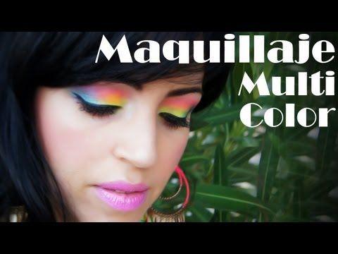 Maquillaje Multicolor - Alegre Veraniego - YouTube