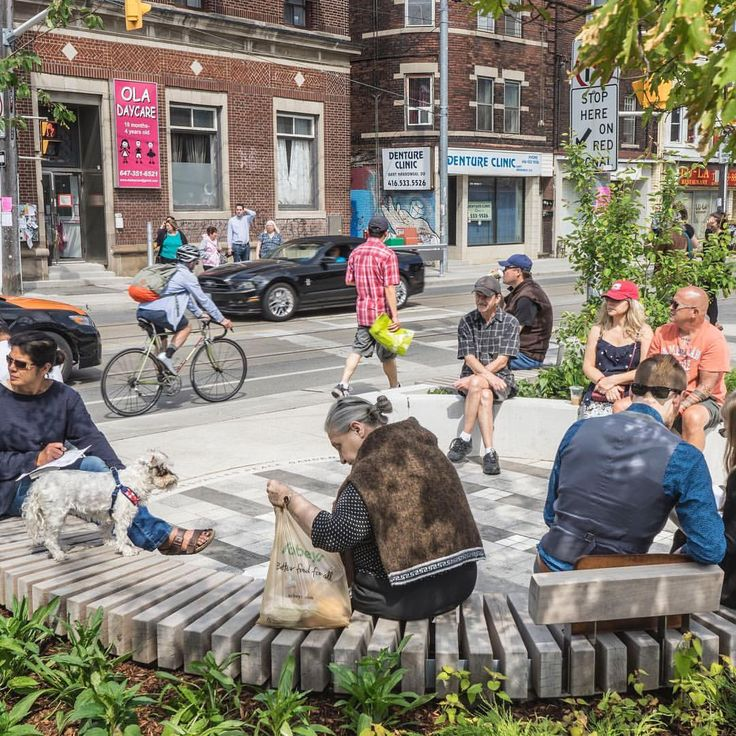 "branchplant: ""Shown here before the weather went all 'festive' on us, the Dundas-Roncesvalles Peace Garden was one of PLANT's four winning projects earlier this month at the TABIA (Toronto Association of Business Improvement Areas) Awards. """
