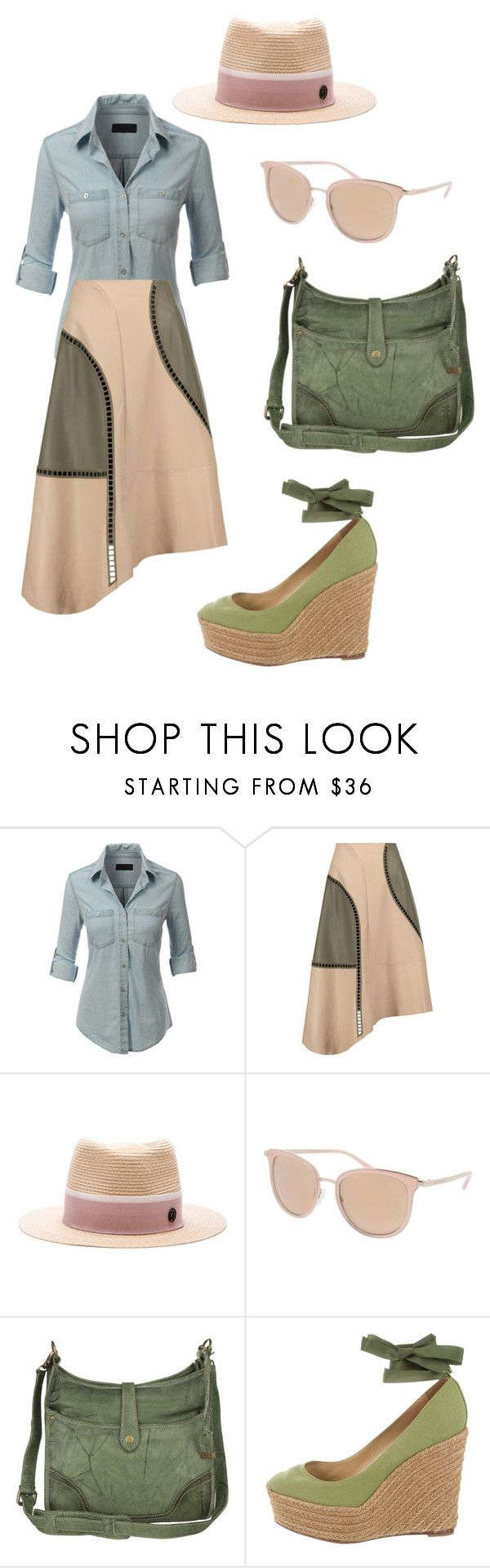"""Сафари"" by evavendoc on Polyvore featuring мода, LE3NO, TIBI, Maison Michel, Michael Kors, Frye и Christian Louboutin"