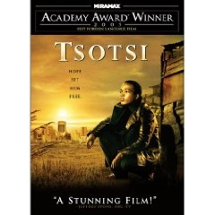 "Set amidst the sprawling Johannesburg township of Soweto -- where survival is the primary objective - ""Tsotsi"" traces six days in the life of a ruthless young gang leader who ends up caring for a baby accidentally kidnapped during a car-jacking."