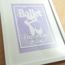 pattern for sale on www.totallytemplates.co.uk Ballet